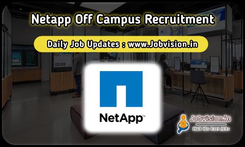 NetApp Recruitment 2021