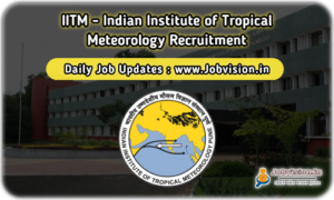 IITM Pune Recruitment