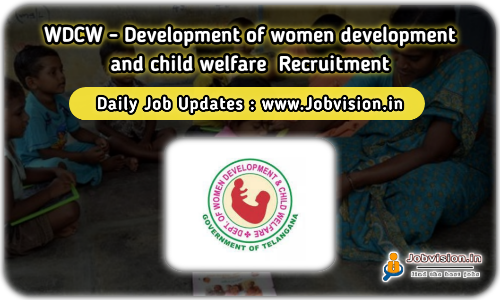 WDCW Telangana Recruitment 2021