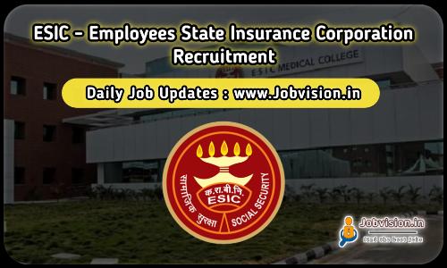 ESIC Chennai Recruitment 2021