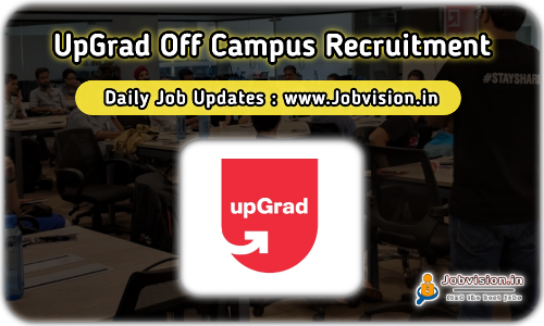 upGrad Off Campus Drive 2021