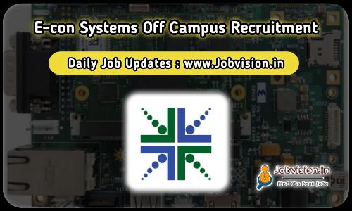 e-con Systems Off Campus Drive 2021