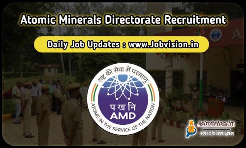 Atomic Minerals Directorate Recruitment 2021