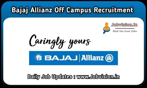 Bajaj Allianz Off Campus Drive 2021