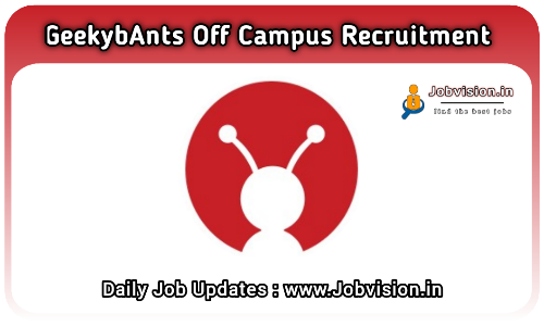 GeekyAnts Off Campus Drive 2021