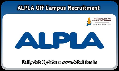 ALPLA India Off Campus Drive 2021