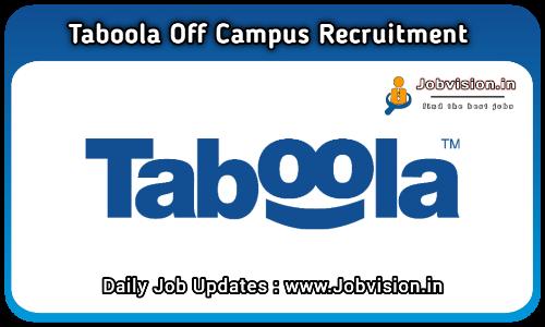 Taboola Off Campus Drive 2021