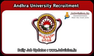 Andhra University Recruitment