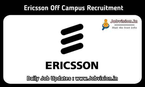 Ericsson Recruitment 2021