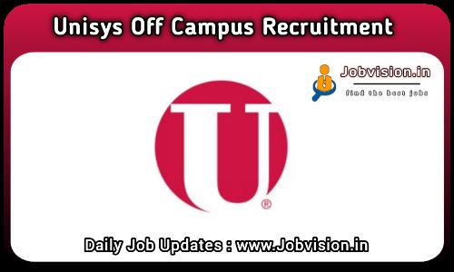 Unisys Recruitment 2021