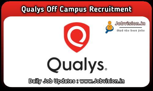 Qualys Recruitment 2021