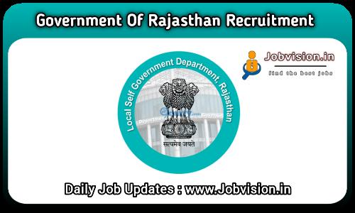 LSG Rajasthan Recruitment 2021