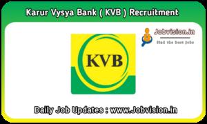 KVB - Karur Vysya Bank Recruitment