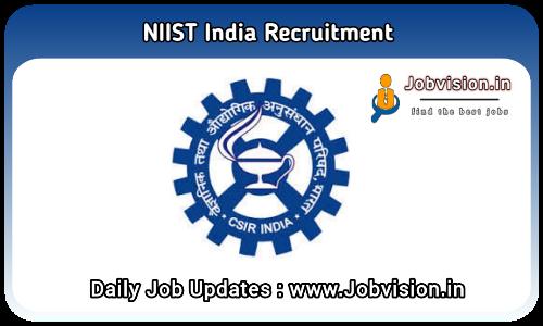 NIIST Recruitment 2021