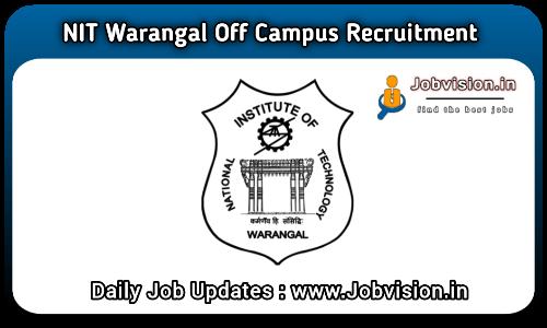 NIT Warangal Recruitment 2021