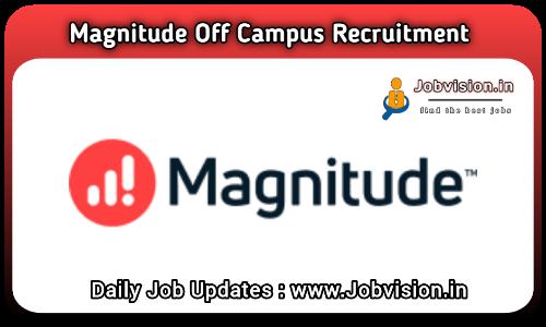 Magnitude Software Off Campus Hiring 2021