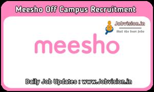 Meesho Off Campus Recruitment