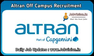 Altran Off Campus Recruitment
