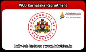 WCD Karnataka Anganwadi Recruitment