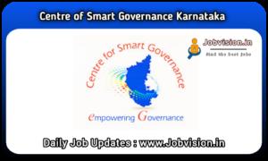 Centre for Smart Governance Karnataka Recruitment
