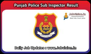 Punjab Police Sub Inspector Result