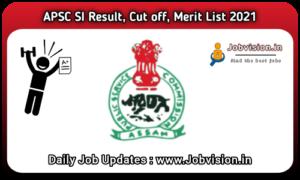 Arunachal Pradesh PSC SI Result 2021