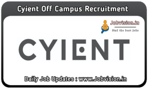 Cyient Off Campus Drive