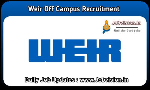 Weir Recruitment 2021