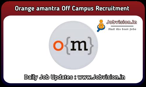 Orange Mantra Off Campus Drive 2021