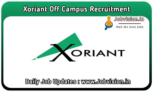Xoriant  Off Campus Drive Drive 2021