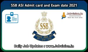 SSB ASI Admit Card