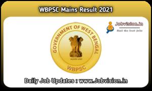 WBPSC Civil Service Mains Result 2021