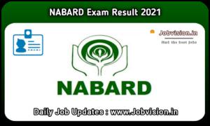 NABARD Result 2021