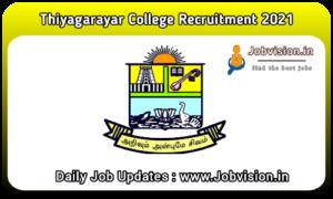 Thiagarajar College Recruitment 2021