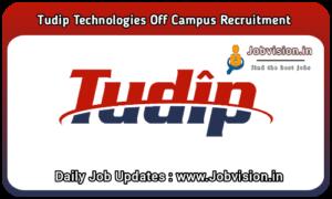 Tudip Technologies Off Campus Drive