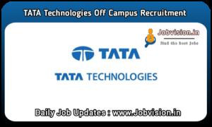 Tata Technologies Off Campus Drive
