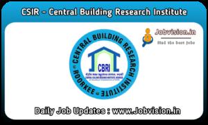 CBRI Recruitment 2021
