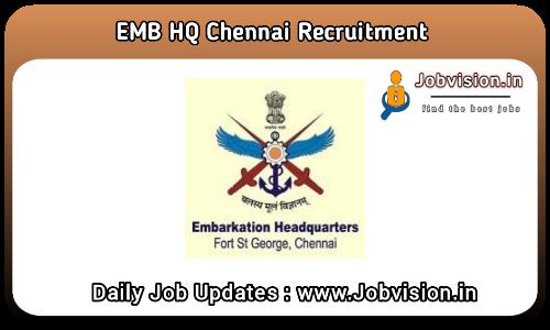 EMB HQ Chennai Recruitment 2021