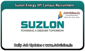 Suzlon Energy Off Campus Drive