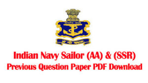 Indian Navy Sailor AA SSR Previous Question Paper PDF Download